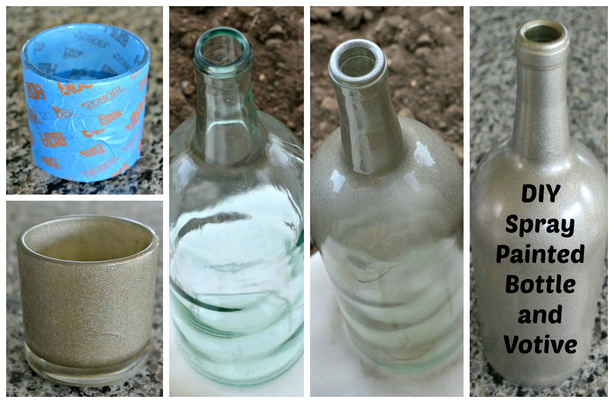 diy spray paint candle holder spray painting kitchen With what kind of paint to use on kitchen cabinets for wine bottle votive candle holder