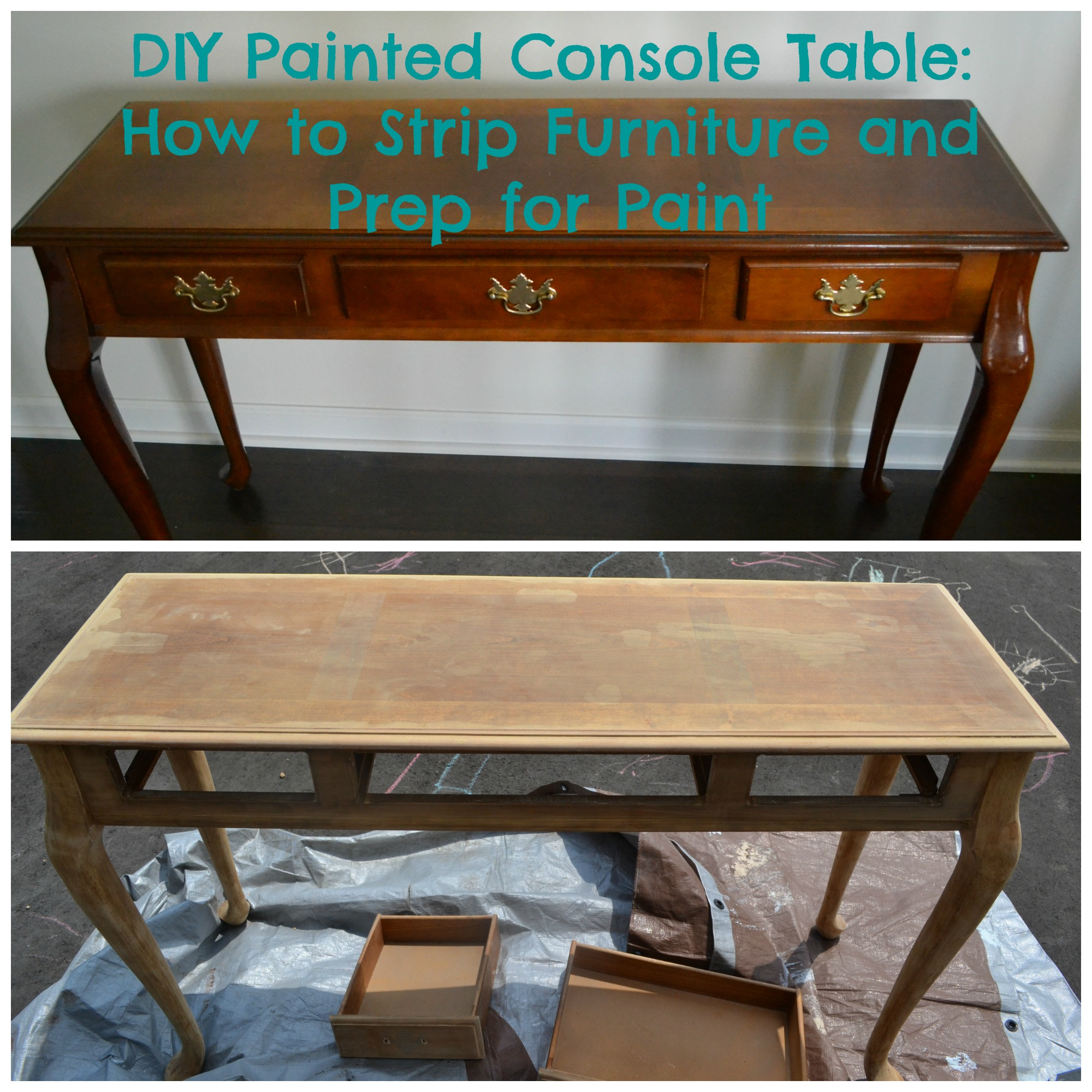 DIY Painted Console Table: How To Strip Furniture And Prep For Paint | This  Grateful Mama
