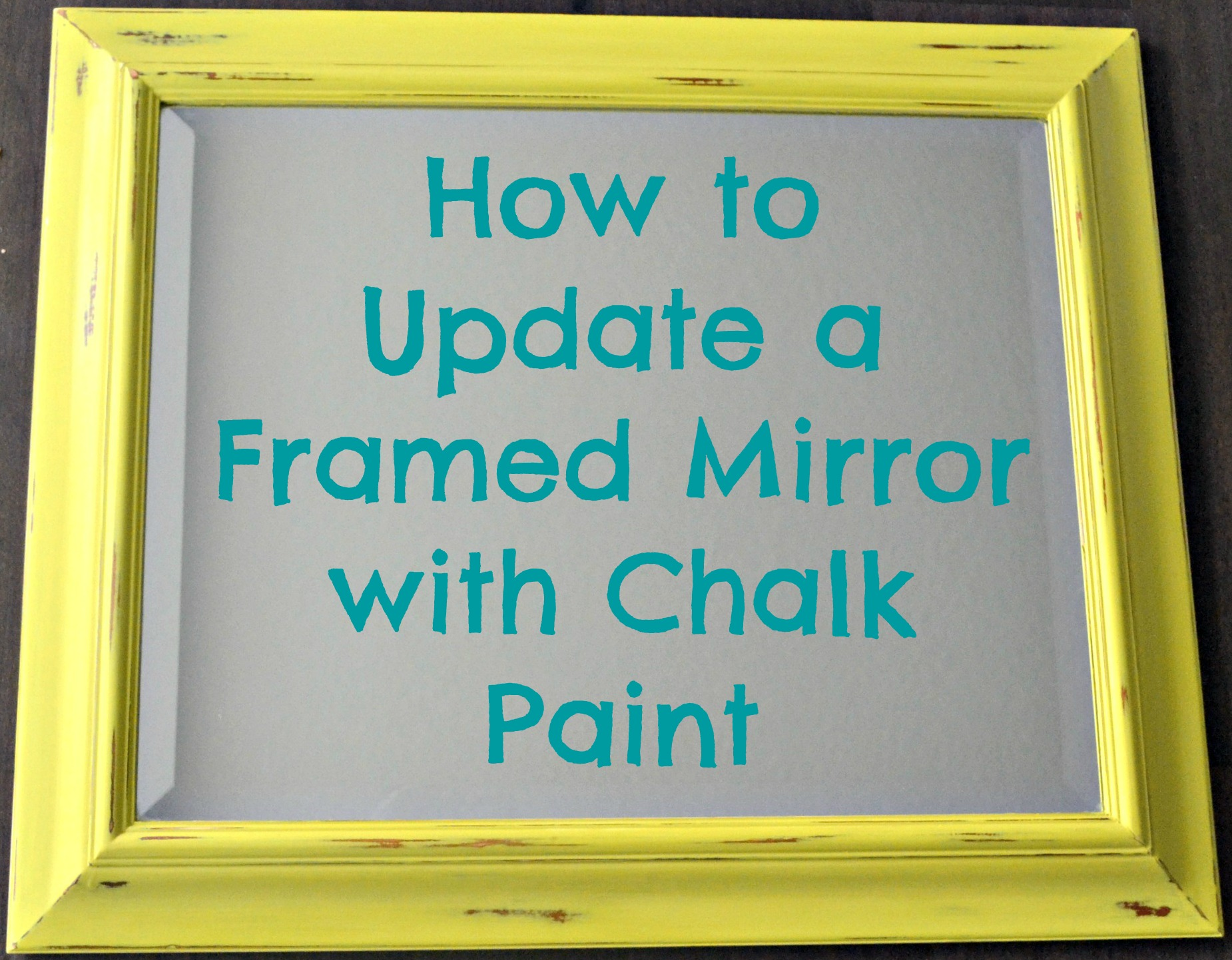 Diy Decor How To Update A Framed Mirror With Chalk Paint This Grateful Mama