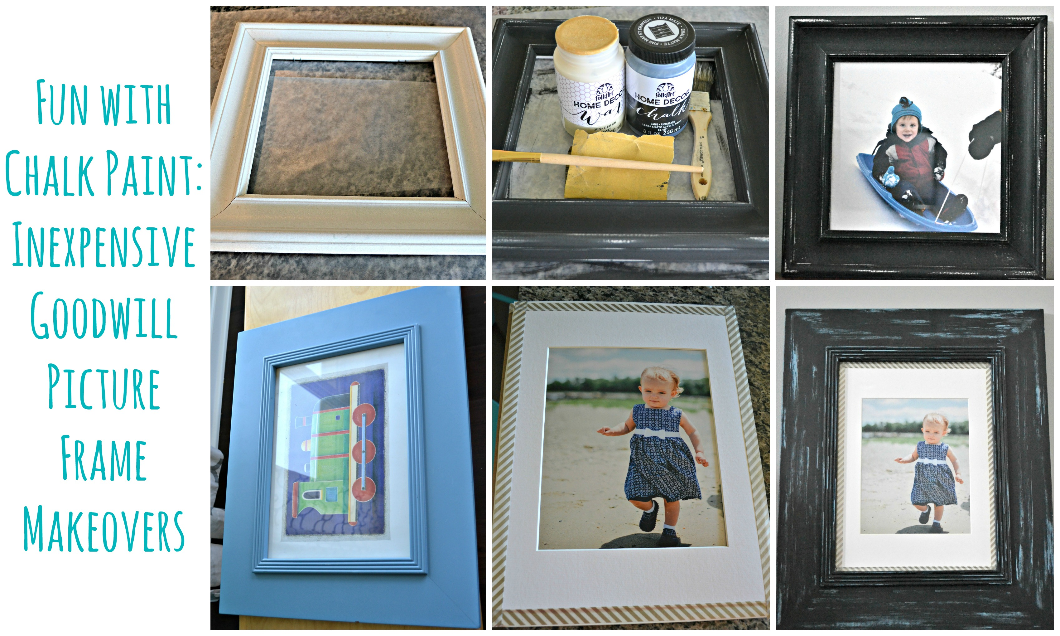Fun with Chalk Paint - Inexpensive Goodwill Picture Frame Makeovers ...